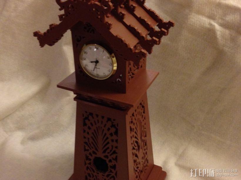 古典精美时钟 3D模型  图1