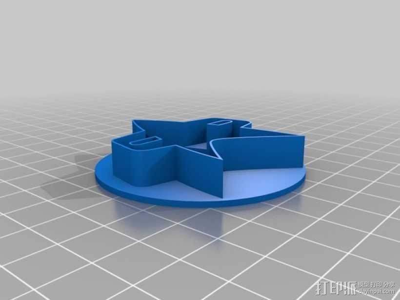 《星际迷航》通讯器 饼干制作模具 3D模型  图2