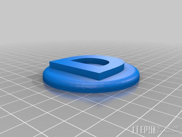 洗碟机磁力标志 3D模型  图3