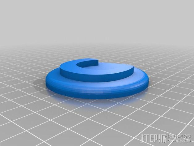 洗碟机磁力标志 3D模型  图2