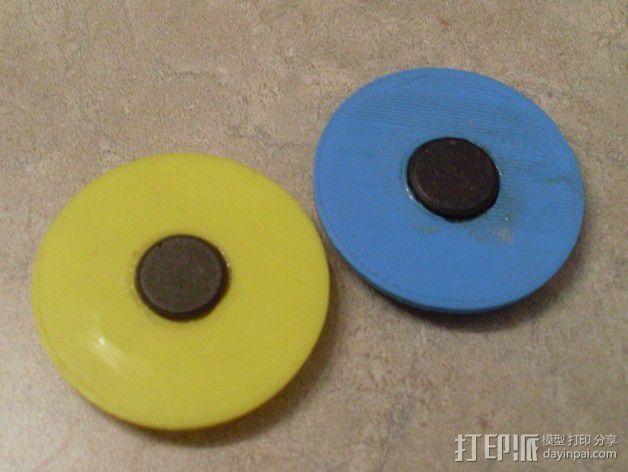 洗碟机磁力标志 3D模型  图4