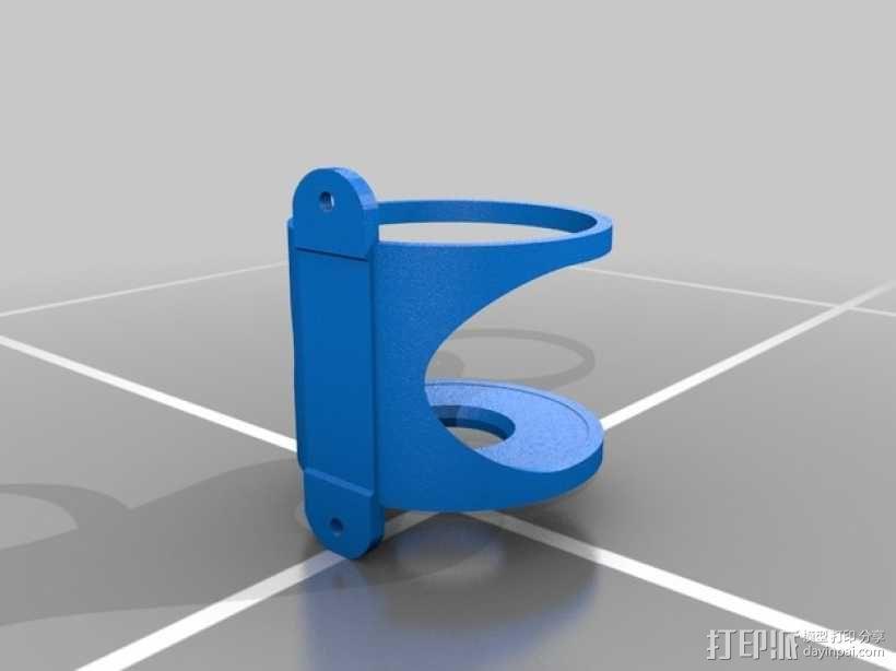壁挂式擀面杖架 3D模型  图2
