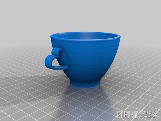 迷你可爱咖啡杯 3D模型  图2