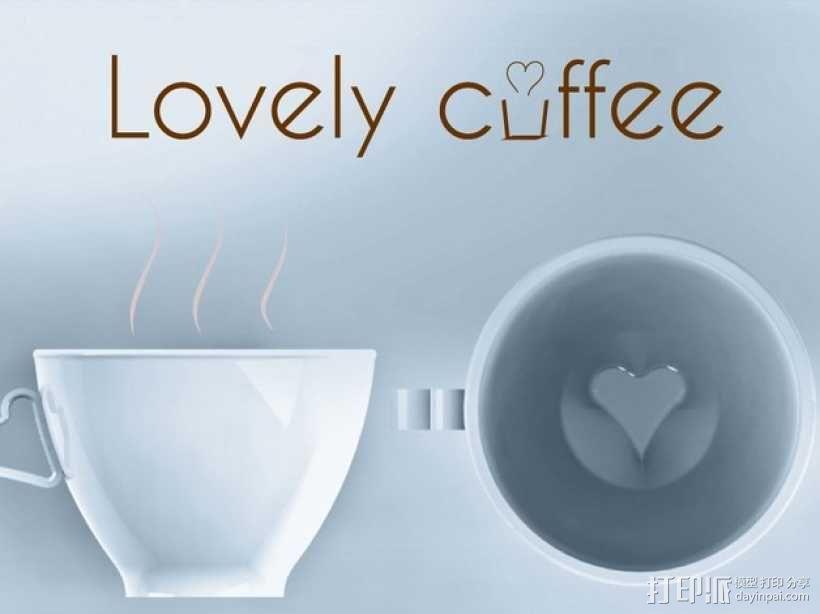 迷你可爱咖啡杯 3D模型  图1