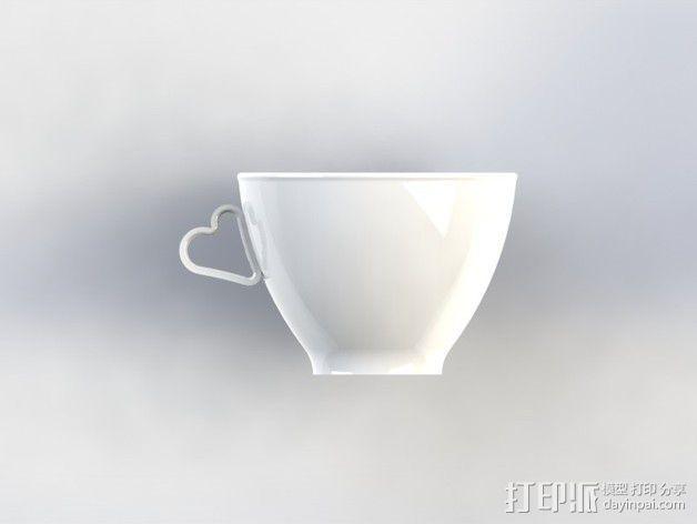 迷你可爱咖啡杯 3D模型  图4