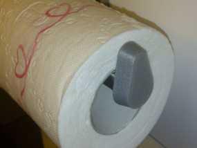 厕纸架挡板 3D模型