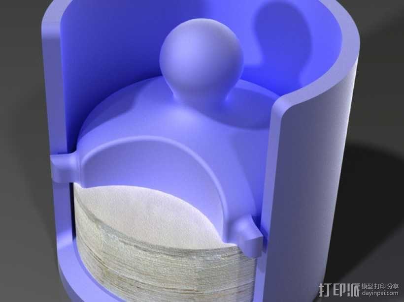 爱乐压咖啡滤纸架 3D模型  图3