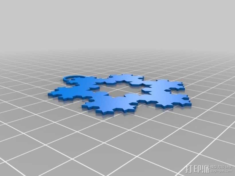 科赫雪花 装饰品 3D模型  图3