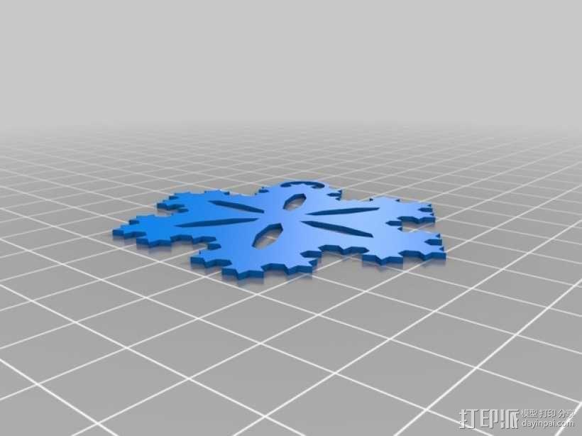 科赫雪花 装饰品 3D模型  图2
