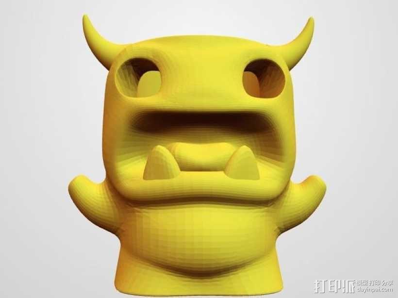 小怪兽笔筒 3D模型  图1