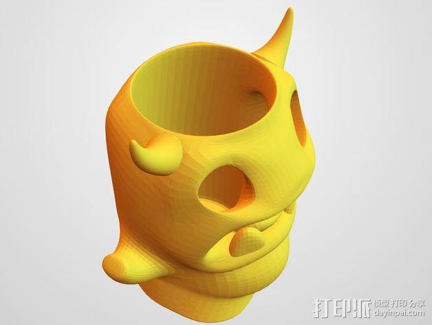 小怪兽笔筒 3D模型  图4