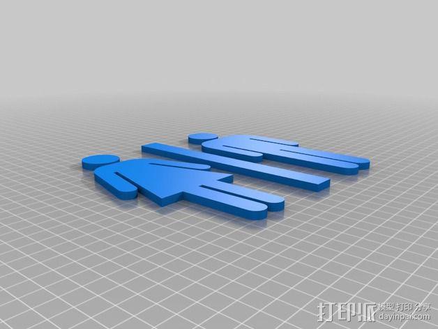 厕所标志 3D模型  图4