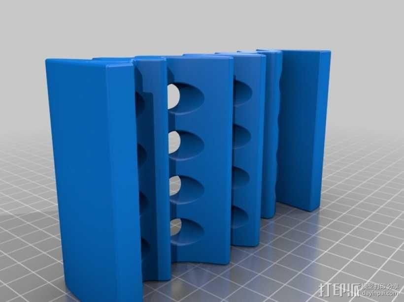 波状肥皂盒 3D模型  图3