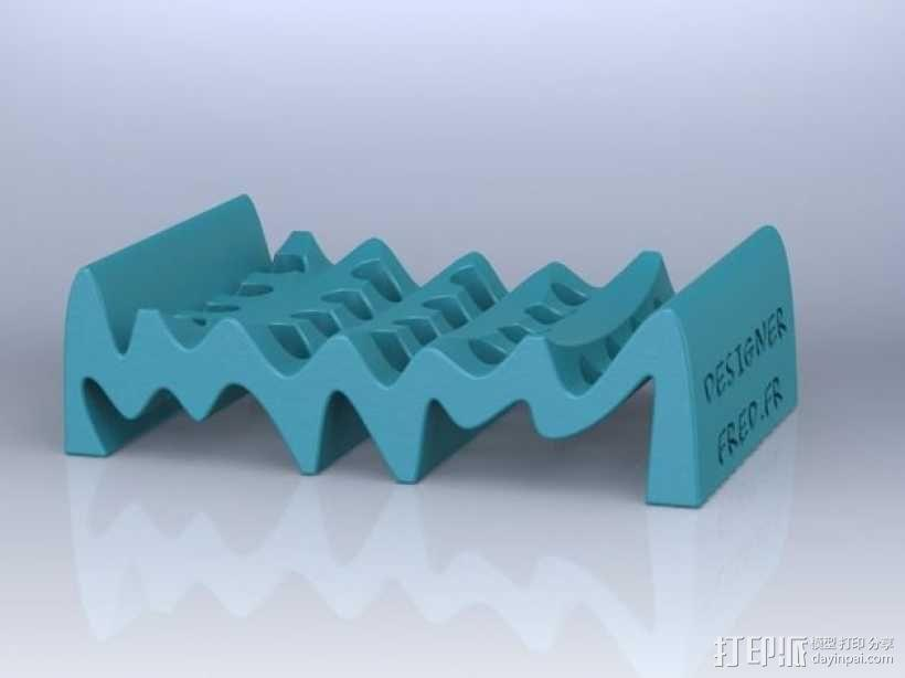 波状肥皂盒 3D模型  图2