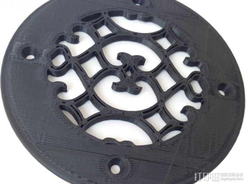圆形通风孔面板 3D模型  图1