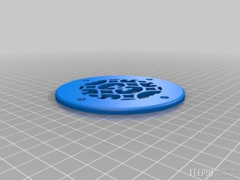 圆形通风孔面板 3D模型  图2