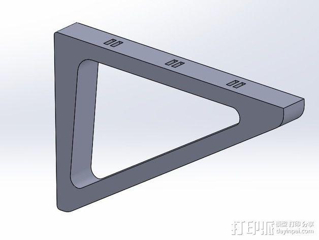 三角支架 3D模型  图3
