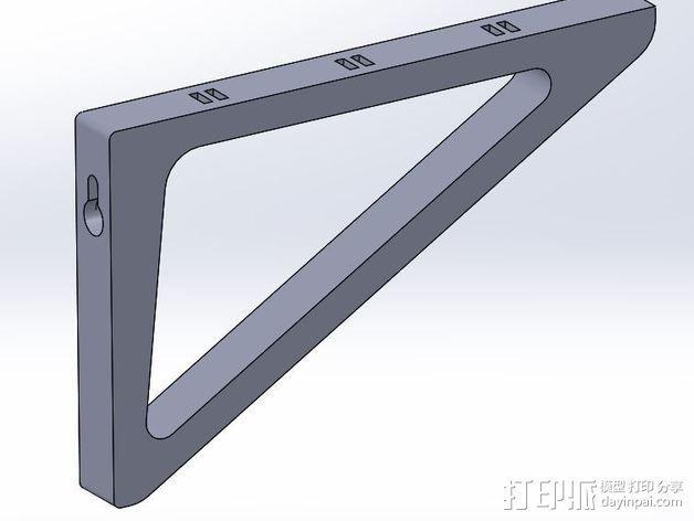 三角支架 3D模型  图2