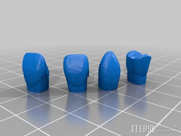 南瓜 牙齿 3D模型  图2