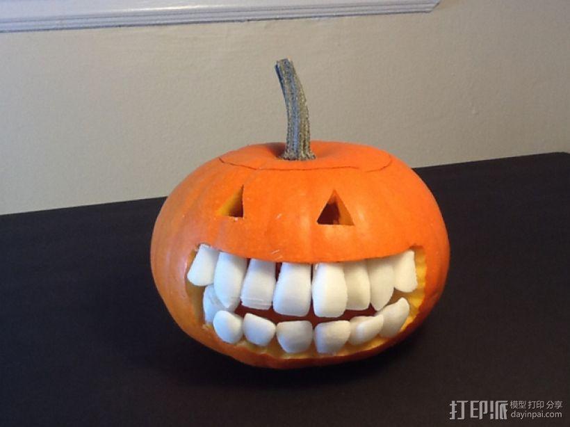南瓜 牙齿 3D模型  图1
