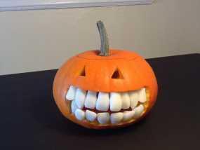 南瓜 牙齿 3D模型