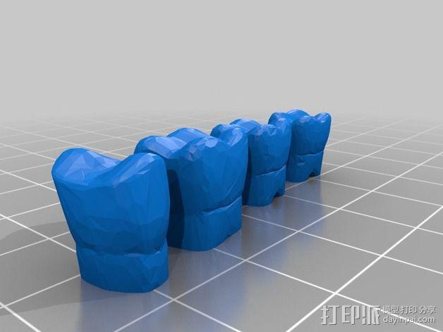 南瓜 牙齿 3D模型  图4