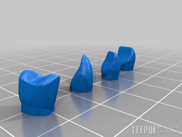 南瓜 牙齿 3D模型  图7