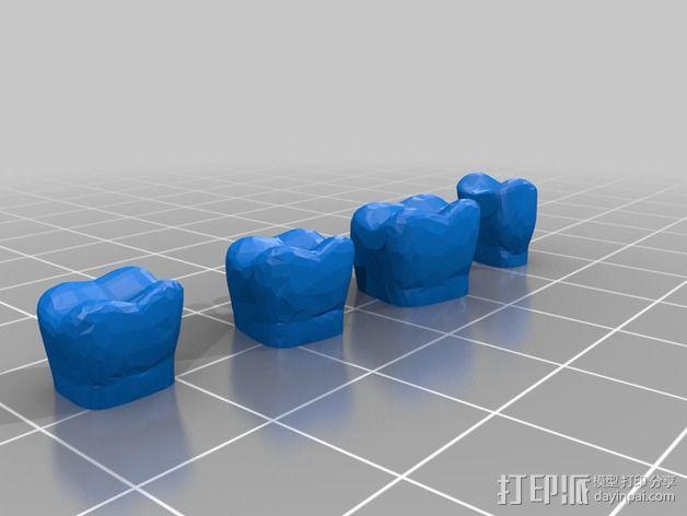 南瓜 牙齿 3D模型  图5