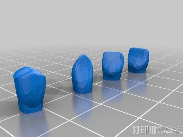 南瓜 牙齿 3D模型  图6