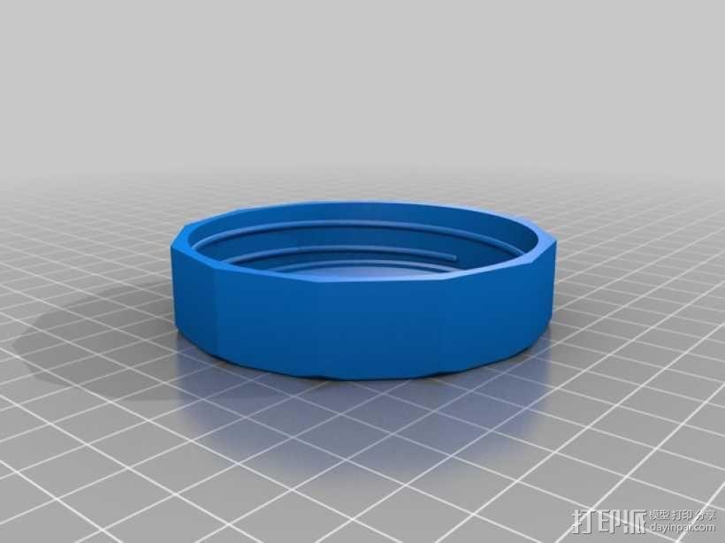 玻璃瓶螺丝盖 3D模型  图2