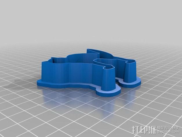 万圣节饼干制作模具 3D模型  图3