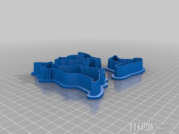 万圣节饼干制作模具 3D模型  图4