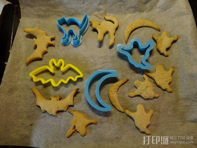 万圣节饼干制作模具 3D模型  图7
