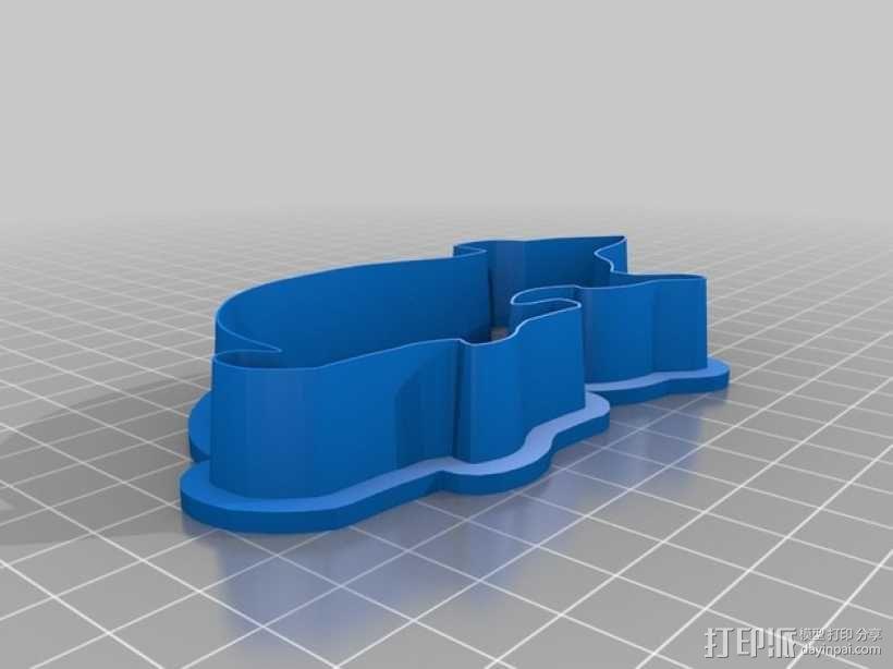 万圣节饼干模具 3D模型  图1