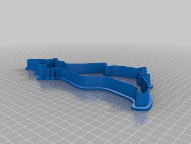 巫师-万圣节饼干模具 3D模型  图1