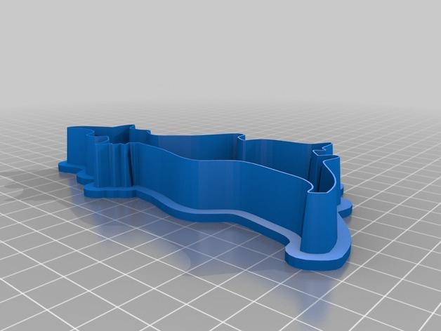 巫师-万圣节饼干模具 3D模型  图2