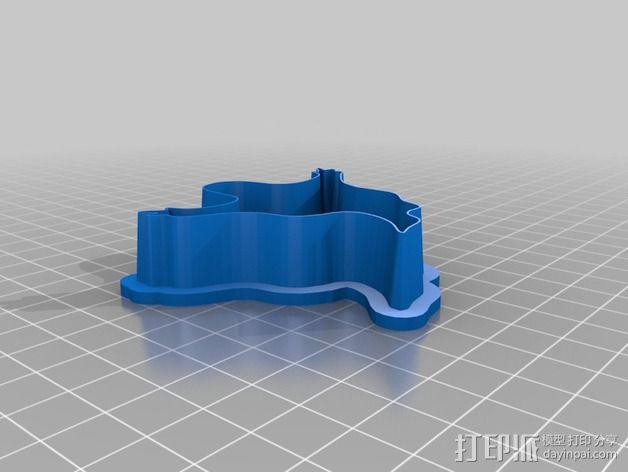 鬼-万圣节饼干模具 3D模型  图2