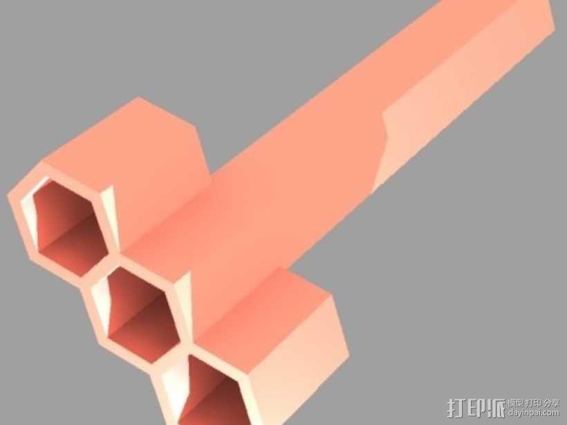 罚抄专用笔 3D模型  图3