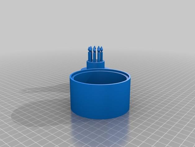 生日蛋糕珠宝盒 3D模型  图3