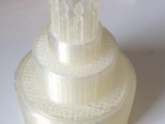 生日蛋糕珠宝盒 3D模型  图4