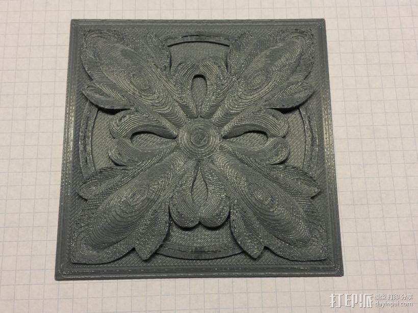 plitka方形装饰品 3D模型  图1
