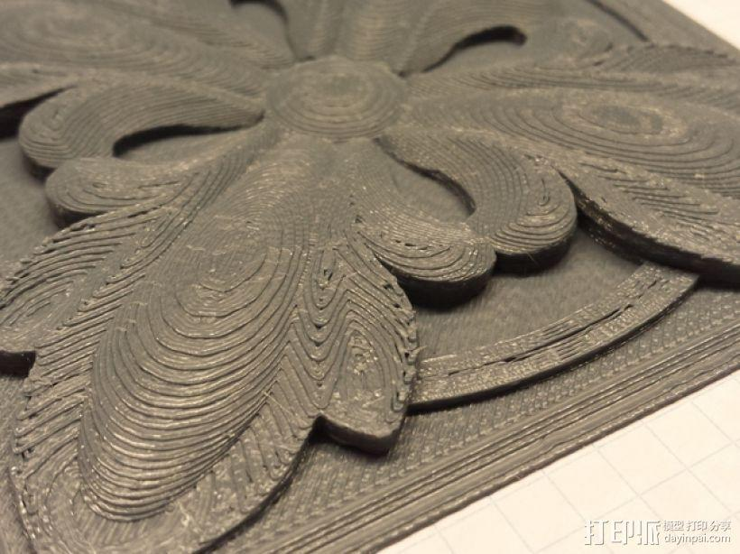 plitka方形装饰品 3D模型  图2