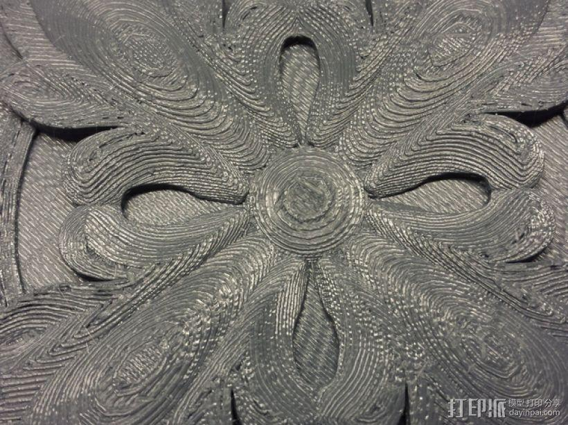 plitka方形装饰品 3D模型  图3