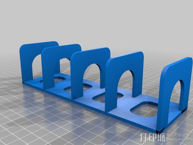 遥控器收放栏 3D模型  图2