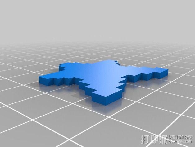 星星人 3D模型  图3