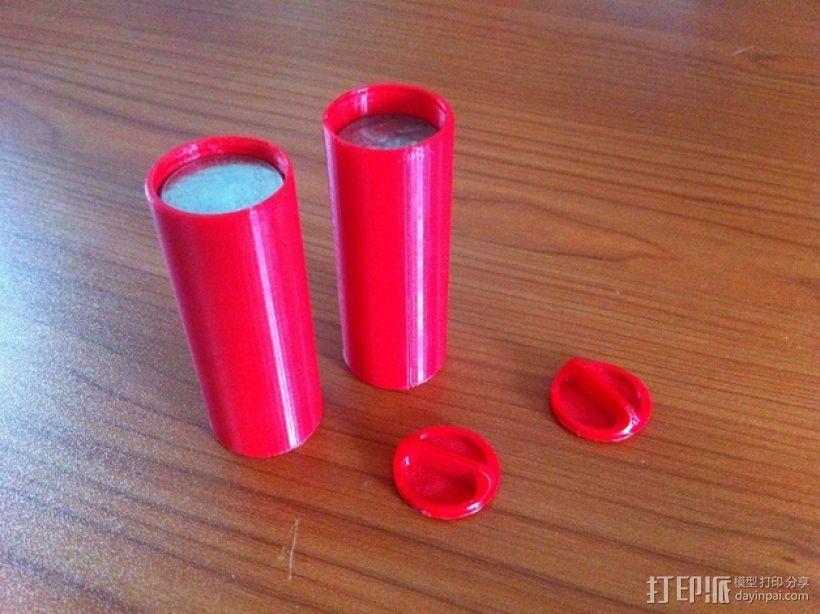 硬币存放筒 3D模型  图1