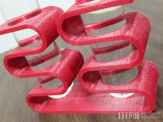 装饰试管固定夹 3D模型  图2