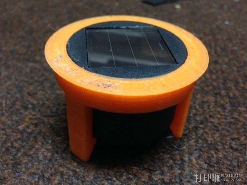太阳盖固定器 3D模型  图1