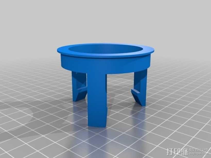 太阳盖固定器 3D模型  图2