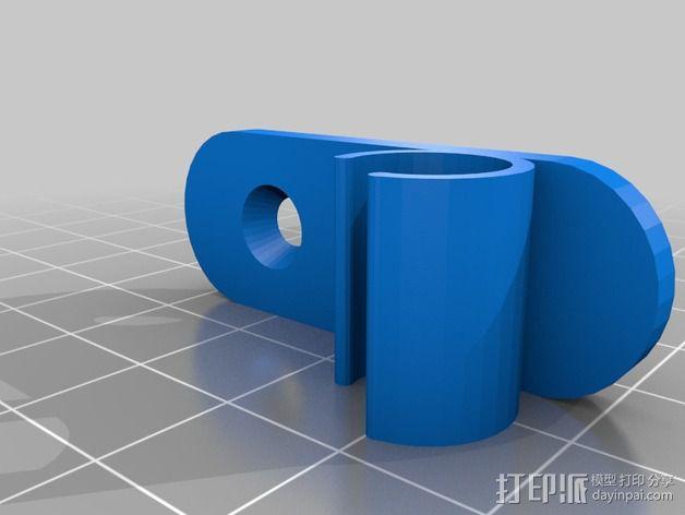 壁挂式彩虹管固定夹 3D模型  图2